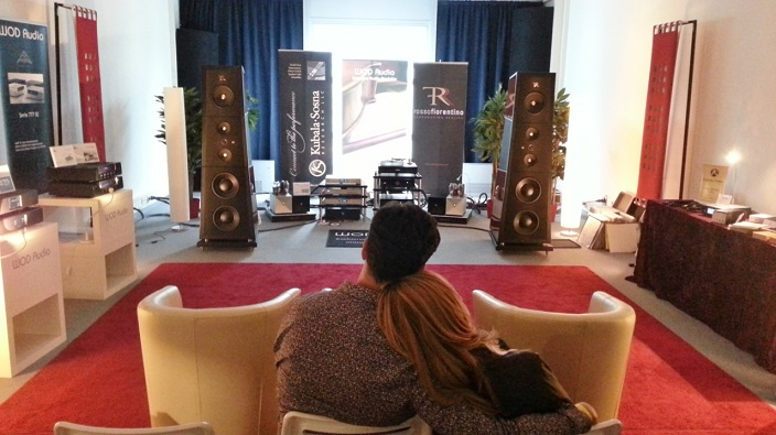 Lovely couple at WOD Audio showroom (German distributor)